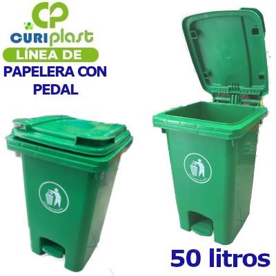 PAPELERA PEDAL 50 L