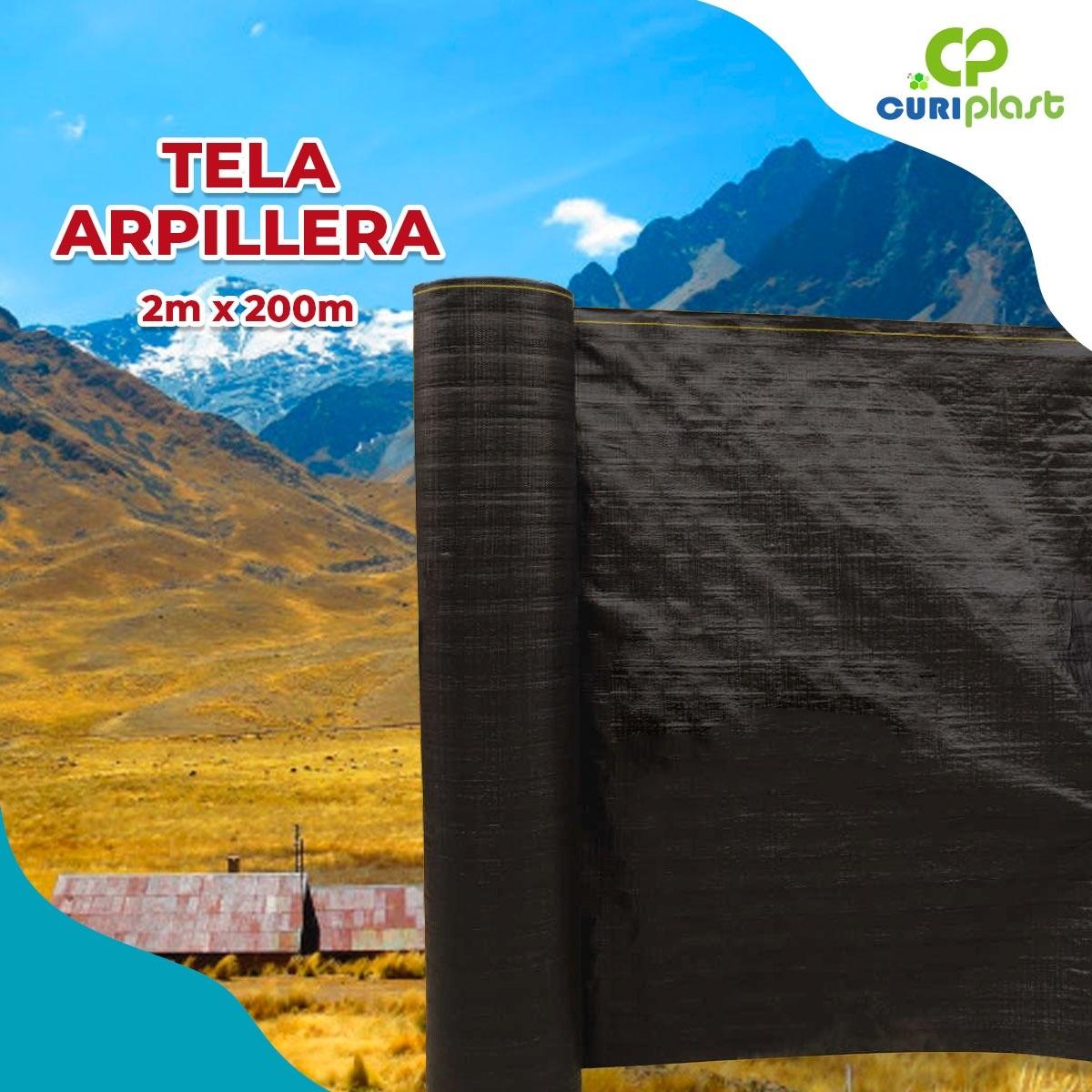 tela arpillera negra de 2m x 200m