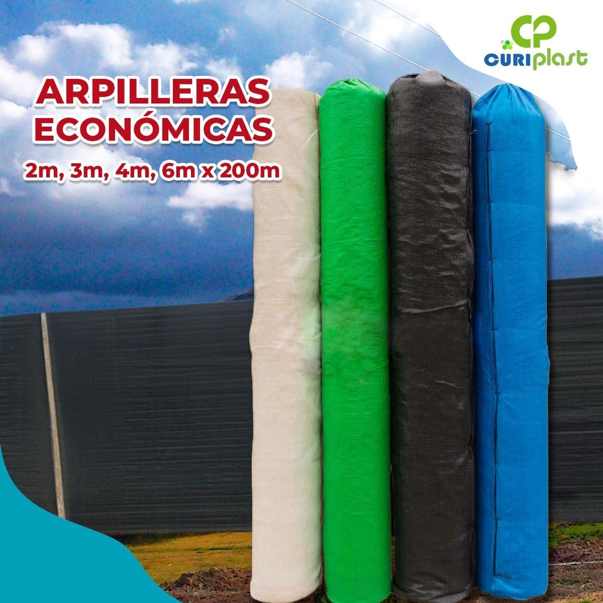 tela arpillera verde 2m x 200m
