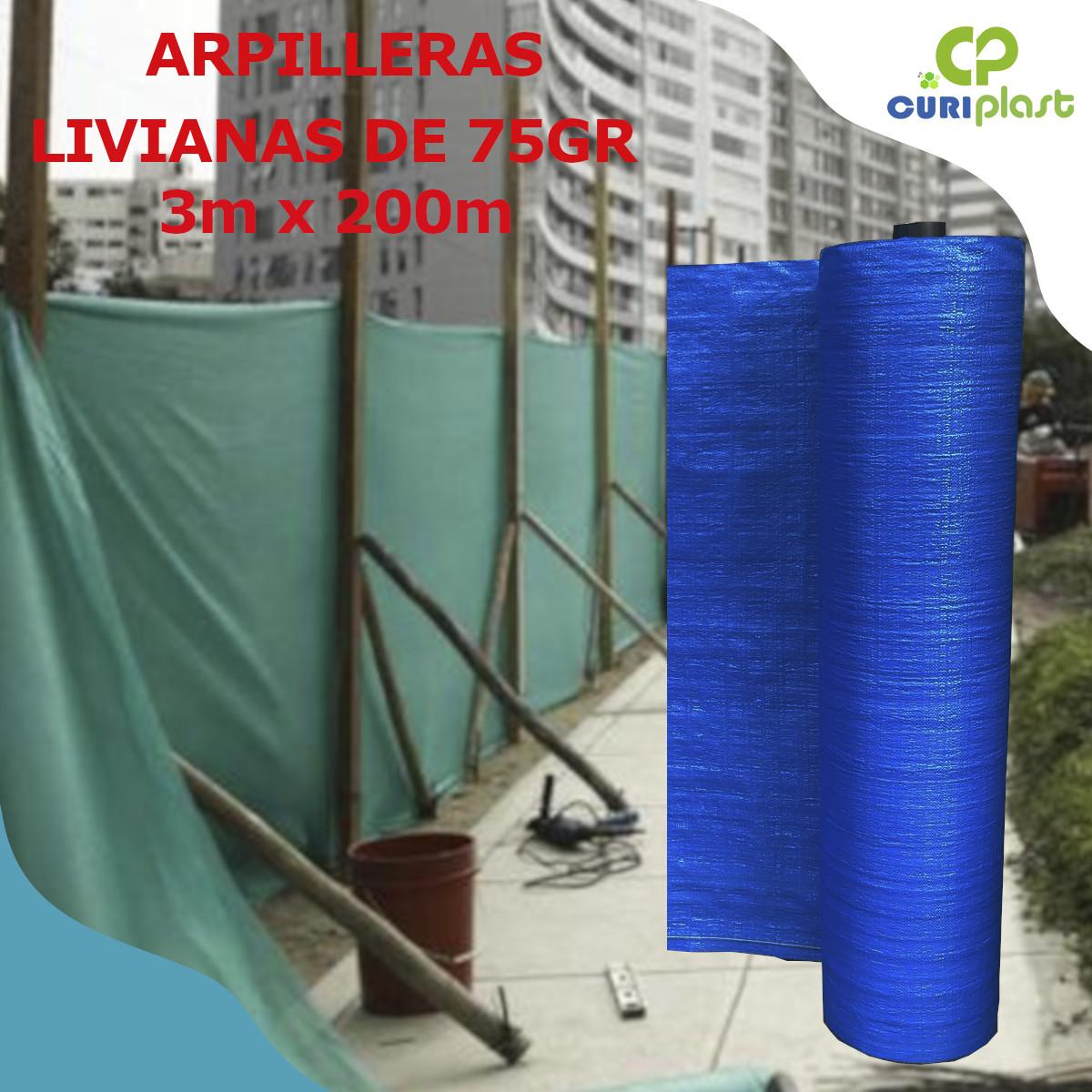 tela arpillera de 3m x 200m azul