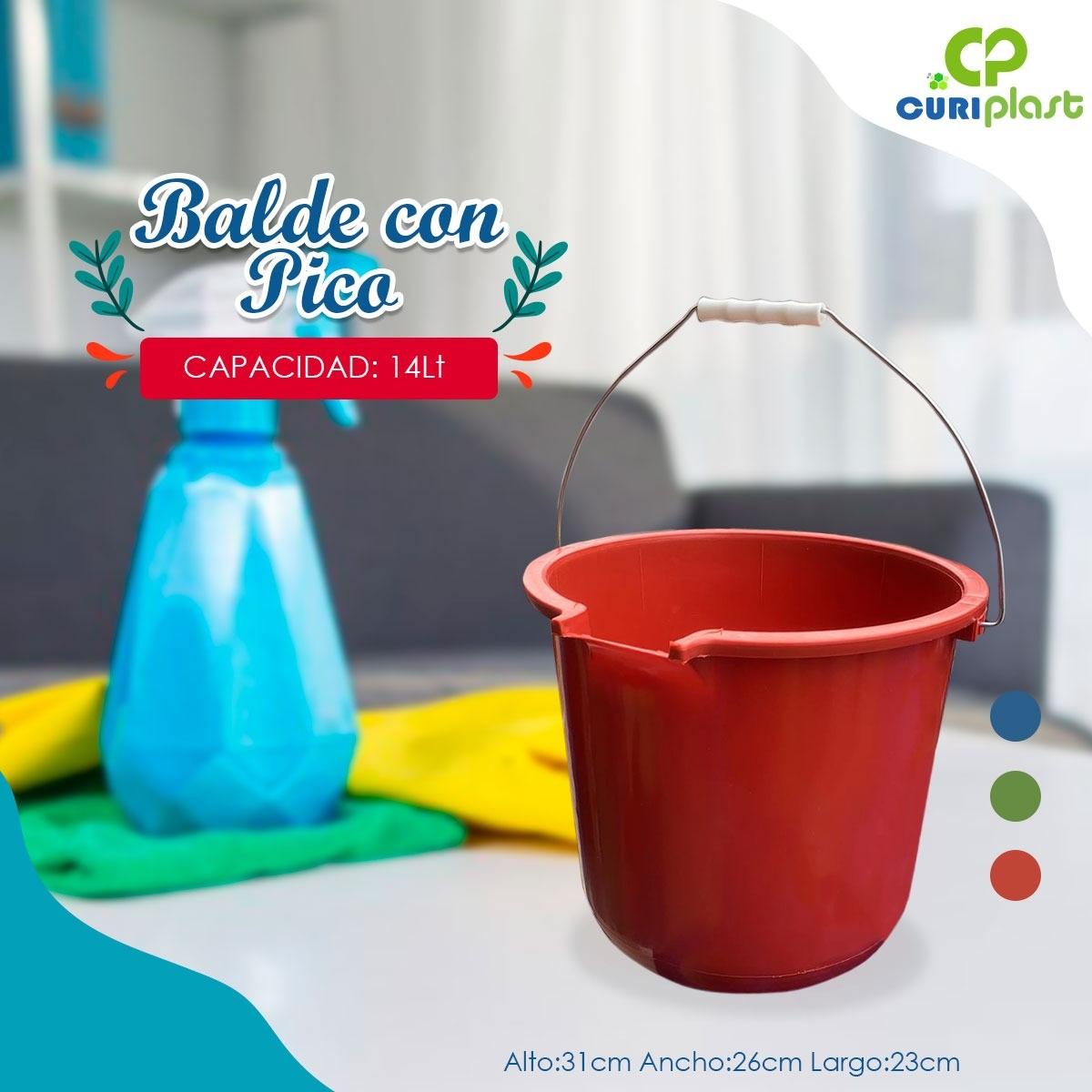 balde plástico atalanta con pico 14 litros